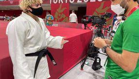 تهاني القحطاني لاعبة الجودو مع وزير الرياضة السعودي
