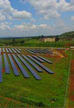محطة طاقة شمسية بعد تنفيذ الهيئة العربية للتصنيع لها في أوغندا