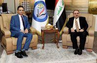 وزير العدل العراقي يستقبل السفير المصري في العراق