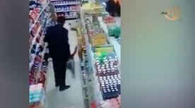 صفع طفل داخل سوبر ماركت في المنصورة