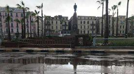 ميدان المنشية أمطار غزيرة تجتاح الإسكندرية