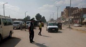 انتشار رجال المرور في أبوصوير