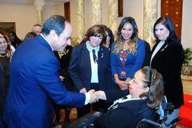 الرئيس السيسى خلال لقائه عضوات المجلس القومى للمرأة