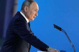 الرئيس الروسي قلاديمير بوتين خلال خطابه السنوي عن حالة الأمة
