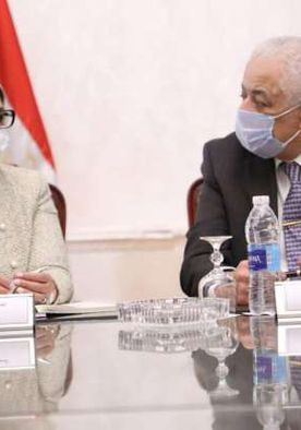الدكتورة هالة زايد، وزيرة الصحة، والدكتور طارق شوقي، وزير التعليم في لقاء سابق