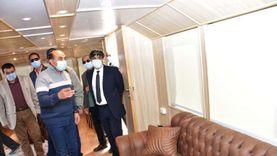 محافظ أسوان يتفقد الفنادق واللنشات السياحية لمتابعة إجراءات كورونا
