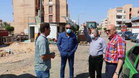 حملة لإزالة الإشغالات بسوق المنطقة السكنية الرابعة بالسادات