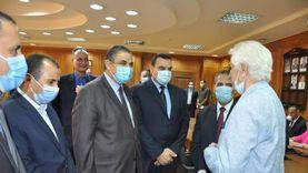 """رئيس جامعة كفر الشيخ يتفقد """"تأهيلي الدكتوراه"""" بكلية التربية الرياضية"""