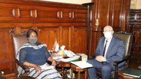 القصير يبحث مع وزيرة الزراعة والامن الغذائي بجنوب السودان افاق التعاون الزراعي بين البلدين