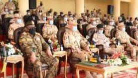 """صور.. رئيس الأركان وقادة القوات المسلحة العرب يتابعون """"سيف العرب"""""""