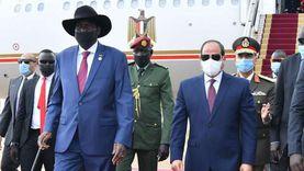 السيسي: مصر تدعم جهود سلفا كير ونائبه في تحقيق السلام بجنوب السودان