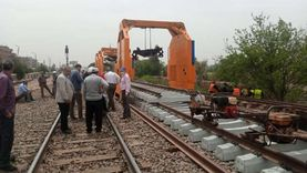 النقل: عودة حركة القطارات بعد التأكد من إنهاء أعمال الصيانة في مكان حادث قطار بنها