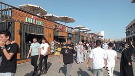 إقبال كبير على حدائق وشواطئ بورسعيد رابع أيام عيد الأضحى