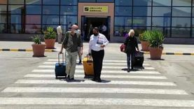 مطار مرسى علم يستقبل أول طائرة من سويسرا بعد عودة السياحة الخارجية
