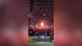 آلاف الأهلاوية يشعلون مدينة نصر احتفالا بالأميرة السمراء