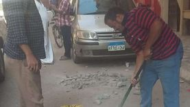 إزالة الإشغالات والحواجز الخرسانية والحديدية من شوارع أسيوط
