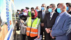 """""""الوزير"""" ومحافظ الغربية يتفقدان أعمال تطوير طريق """"دفرة- زفتى"""""""