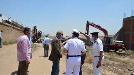 محافظ القليوبية يشهد حملة لإزالة المباني المخالفة في شبرا الخيمة