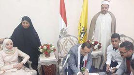 محافظ شمال سيناء يشهد على عقد قران فتاة من أصحاب البصيرة