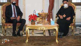 السفير الأمريكي يزور الكنيسة المرقسية بالإسكندرية