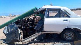 إصابة 6 من أسرة واحدة في انقلاب سيارة على صحراوي البحيرة