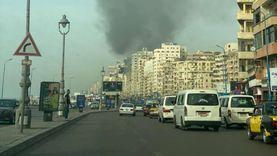اندلاع حريق في كافتيريا على كورنيش الإسكندرية دون وقوع إصابات «صور»