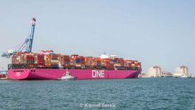 رغم سوء الأحوال الجوية.. ميناء دمياط يعمل بكامل طاقته