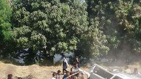إصابة 9 أشخاص في حادث انقلاب ميكروباص بطريق «مطروح - إسكندرية»