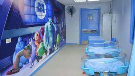 لإضفاء البهجة وإزالة الرهبة.. مستشفى المنصورة تطور جناح عمليات أطفال