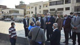 محافظ الجيزة يتابع أعمال التطوير بمحيط منطقة الأهرامات