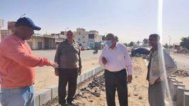 صور.. رئيس مدينة رأس سدر يتابع أعمال تطوير منطقة السوق التجاري