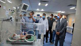 محافظ القليوبية يتابع تشغيل حضانات تحيا مصر بمستشفى كفر شكر