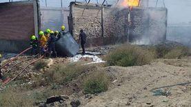 """صور.. السيطرة على حريق بخط الغاز على طريق """"بورسعيد - دمياط"""""""