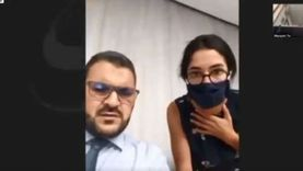 """فيديو.. انفجار بيروت يباغت إعلامية """"بي بي سي"""" أثناء إجراء حوار صحفي"""