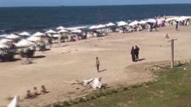 شاطئ بورسعيد يستقبل الزائرين