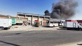 حريق بصومعة غلال مطاحن مصر العليا في سوهاج