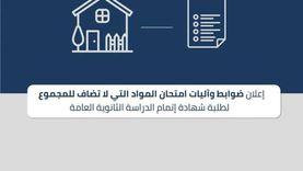 «التعليم»: عقد امتحانات المواد غير المضافة للمجموع بنظام البوكليت