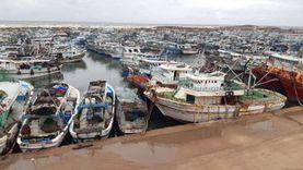 توقف حركة الصيد بميناء البرلس بسبب شدة الرياح لليوم الثاني على التوالي
