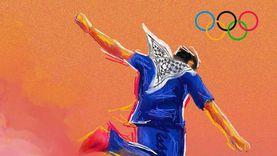 «أولمبياد فلسطين اليومية».. فلسطيني يجسد بريشته معاناة شعبه: بطولاتنا أكبر