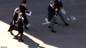 أول ظهور لـ هاري مع عائلته في جنازة فيليب.. وميجان تتابع من كاليفورنيا