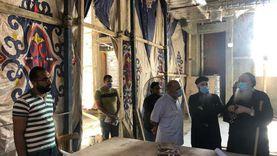 """صور.. الأنبا بولا يتفقد إنشاءات كنيسة """"ميخائيل"""" بطنطا"""