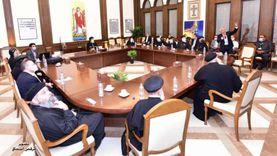 البابا يعقد اجتماعا مع مسؤولي مؤسسة القديس سمعان الخراز بالمقطم