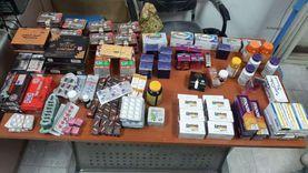 ضبط 40 صنف دواء غير مسجل بالصحة فى 3 صيدليات بمطروح