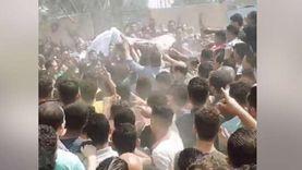جنازة مهيبة لطالب ثانوي انتحر بالدقهلية لرسوبه في مادة