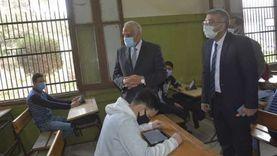 محافظ الجيزة يتابع سير امتحانات الصف الأول الثانوي