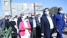 وزيرة الصحة تتفقد أعمال إنشاء وحدة طب أسرة «الكاجوج» بتكلفة 18 مليون