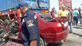 مصرع 4 أشخاص من أسرة واحدة في حادث على طريق العامرية غرب الإسكندرية