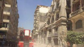 """محافظ القاهرة: شخصان لا يزالان تحت أنقاض العقار المنهار بـ""""قصر النيل"""""""