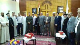 """مرشحو مستقبل وطن لـ""""الشيوخ"""" بسوهاج يزورون المطرانيات"""
