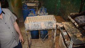 ضبط مصنع آيس كريم بدون ترخيص بأبوقرقاص بالمنيا